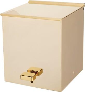 Zodiac Gold-Plated Square Pedal Bin