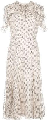 Jason Wu Collection Polka Dot Ruffled Sleeve Dress