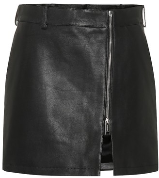 Burberry Leather miniskirt