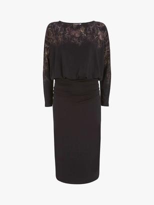 Mint Velvet Sage Snake Mini Dress, Black
