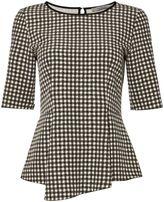 Marella Clarion 34 sleeve check print woven top