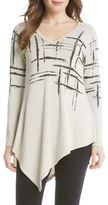 Karen Kane Women's Asymmetrical V-Neck Top