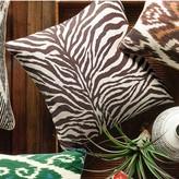 Printed Zebra Pillow Cover, Chocolate