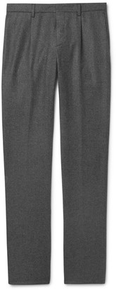 Loro Piana Slim-Fit Melange Wool And Cashmere-Blend Drawstring Trousers
