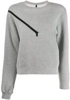 Unravel Project zipper shoulder sweater