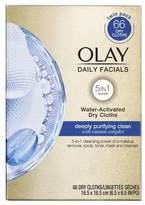 Olay Daily Deep Clean 4-in-1 Water Activated Cleansing Cloths, 66 count