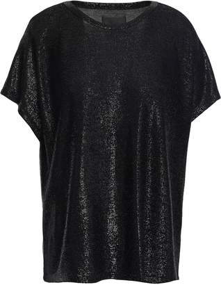 RtA Metallic Stretch-knit Top