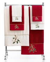 "Lenox CLOSEOUT! Bath Towels, Ribbon and Holly 27"" x 50"" Bath Towel"