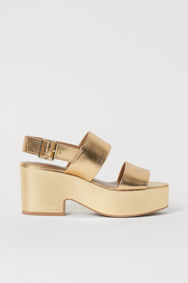 H&M Shimmery Sandals
