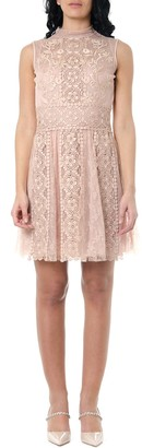 RED Valentino Floral Embroidery Tulle And Lace Dress