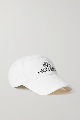 Balenciaga Embroidered Cotton-twill Baseball Cap - White