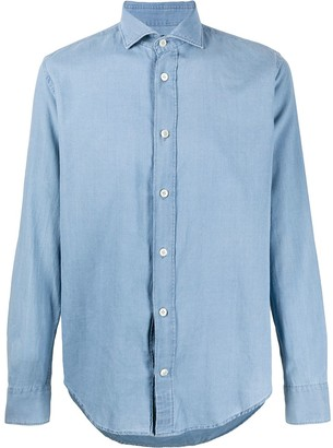 Eleventy Chambray Long Sleeve Shirt