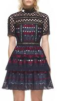 Self-Portrait Self Portrait Hexagon Lace Mini Dress Multi