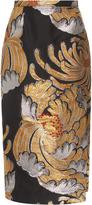 Rochas Pencil Skirt In Lurex Jaquard
