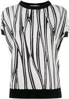 Marni pattern knitted top - women - Silk/Cotton/Polyamide - 40