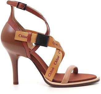 Chloé Logo Strap Sandals