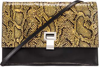 Proenza Schouler Lunch Bag in Black & Saffron | FWRD
