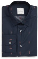 Paul Smith Men's Trim Fit Tree Jacquard Dress Shirt