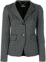 Twin-Set geometric jacquard blazer - women - Cotton/Polyester/Spandex/Elastane/Viscose - 40