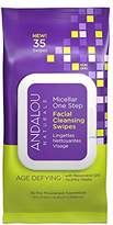 Andalou Naturals Age Defying Micellar Facial Cleansing Swipes, 35-Piece
