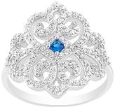 Bliss Blue & White Cubic Zirconia Filigree Ring