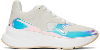 Alexander McQueen Beige and Pink Iridescent Oversized Sneakers
