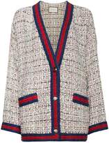 Gucci Tweed and Crystal Cardigan