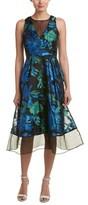 Kay Unger Silk-trim A-line Dress.