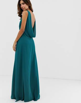 Maids To Measure Maids to Measure bridesmaid maxi dress with draped low back-Green