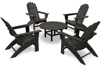 Polywood Vineyard 5 Piece Seating Group Frame Color: Black