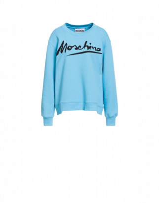 Moschino Cotton Sweatshirt Logo Signature
