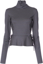 Tome high neck striped blouse