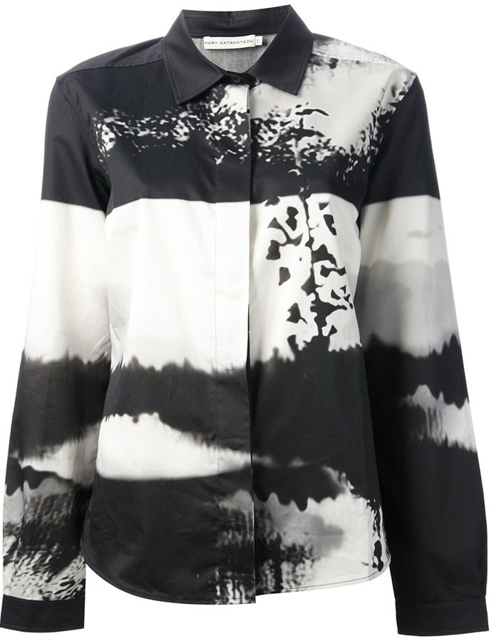 Mary Katrantzou 'Woodstock' printed shirt