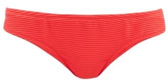 Heidi Klein Sardinia Ribbed Low-rise Bikini Briefs - Red