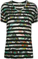 Etro striped T-shirt - women - Spandex/Elastane/Viscose - 44