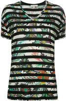 Etro striped T-shirt - women - Viscose/Spandex/Elastane - 40