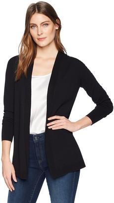 Lark & Ro Amazon Brand Women's Premium Viscose Blend Lightweight Long Sleeve Open Front Cardigan