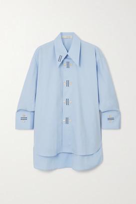 Palmer Harding Marcai Embroidered Cotton-blend Poplin Shirt