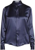 Balenciaga Silk Satin Collared Blouse