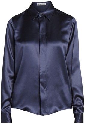 Balenciaga Silk Satin Collared Blouse