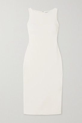Brandon Maxwell Crepe Midi Dress - Ivory