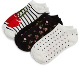 Kate Spade No-Show Socks, Set of 3
