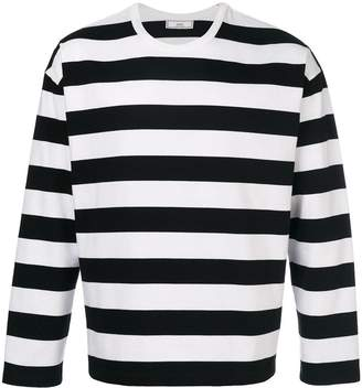 Ami Paris Striped Long Sleeves T-shirt