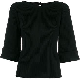RED Valentino boat neck ribbed jumper