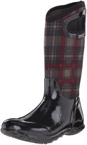 Bogs Women's North Hampton Plaid All Weather Rain Boot, Black Multi