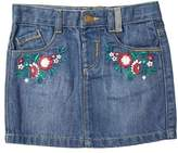 Wallis **Girls Mid Wash Embroidered Denim Skirt (18 months - 6 years)