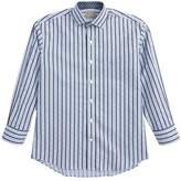 Thomas Dean Stripe & Check Dress Shirt (Big Boys)