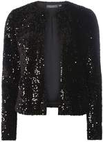 Dorothy Perkins **Tall Black Sequin Embellished Boxy Jacket