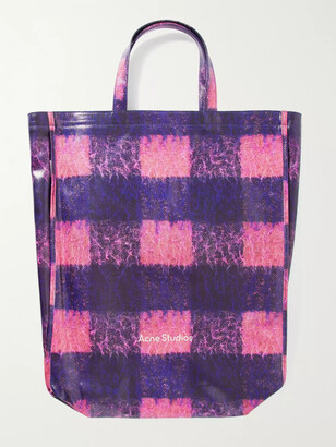 Acne Studios Checked Coated-Canvas Tote Bag - Men - Purple