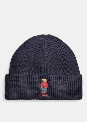 Ralph Lauren Polo Bear Rib-Knit Beanie